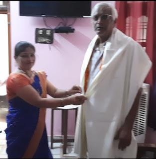 हिंदी दिवस एवं शिक्षक सम्मान समारोह पर शिक्षा रत्न सम्मान से सम्मानित हुए शिक्षक | #NayaSaberaNetwork