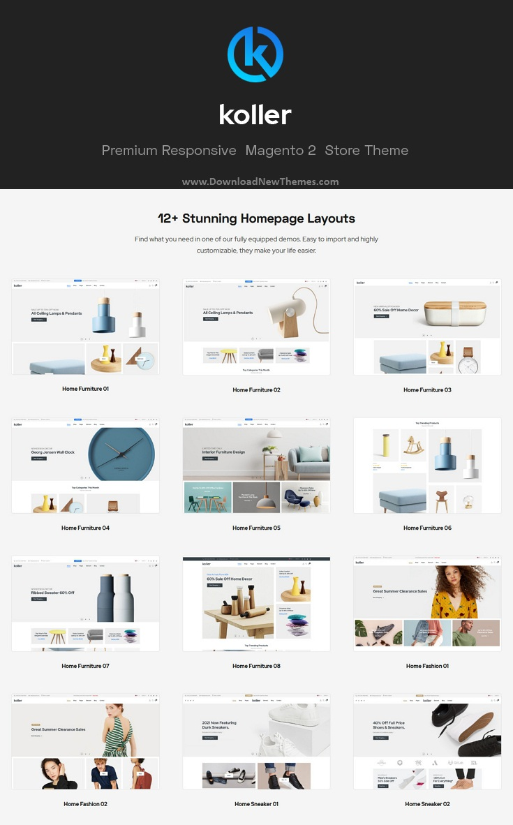 Multipurpose Sections Magento Theme