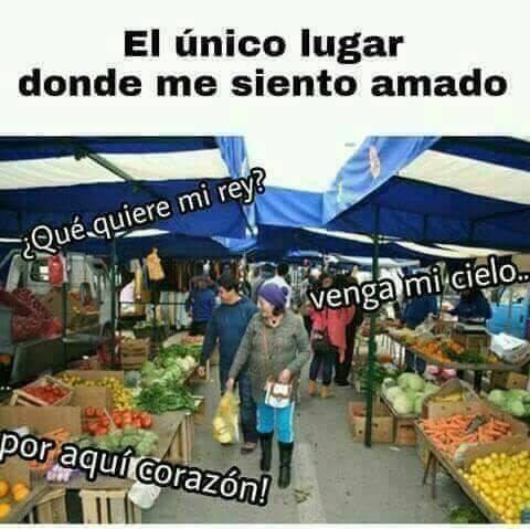 foto de un mercado, donde me siento amado