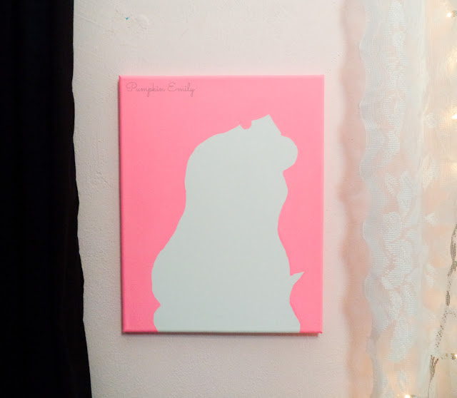Princess Aurora DIY Silhouette Canvas