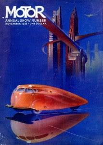 Обложка журнала хорошо иллюстрирует футуристические представления в эпоху АртДеко