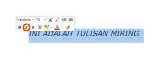 Cara Membuat Huruf Miring (Italic) di Microsoft Word