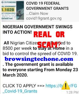 COVID 19 Federal government grants