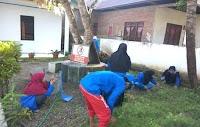 Mantap! Mahasiswa KKLP di  Desa Wanua Waru Bekerja Meski Belum Seminar Proker