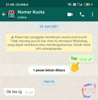hapus pesan whatsapp
