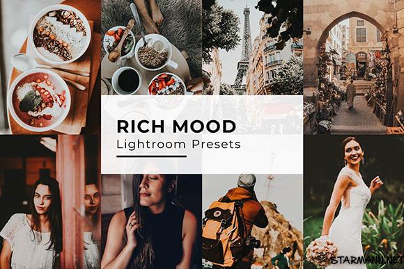 10 Rich Mood Lightroom Presets tổng hợp nhiều màu(Desktop)