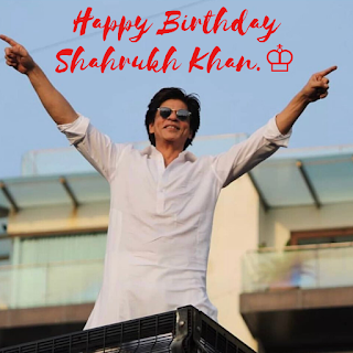 king of Bollywood Shahrukh Khan on his Birthday
