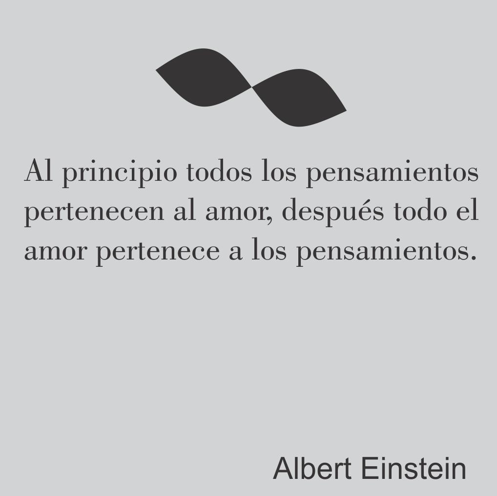 Einstein y los pensamientos de amor