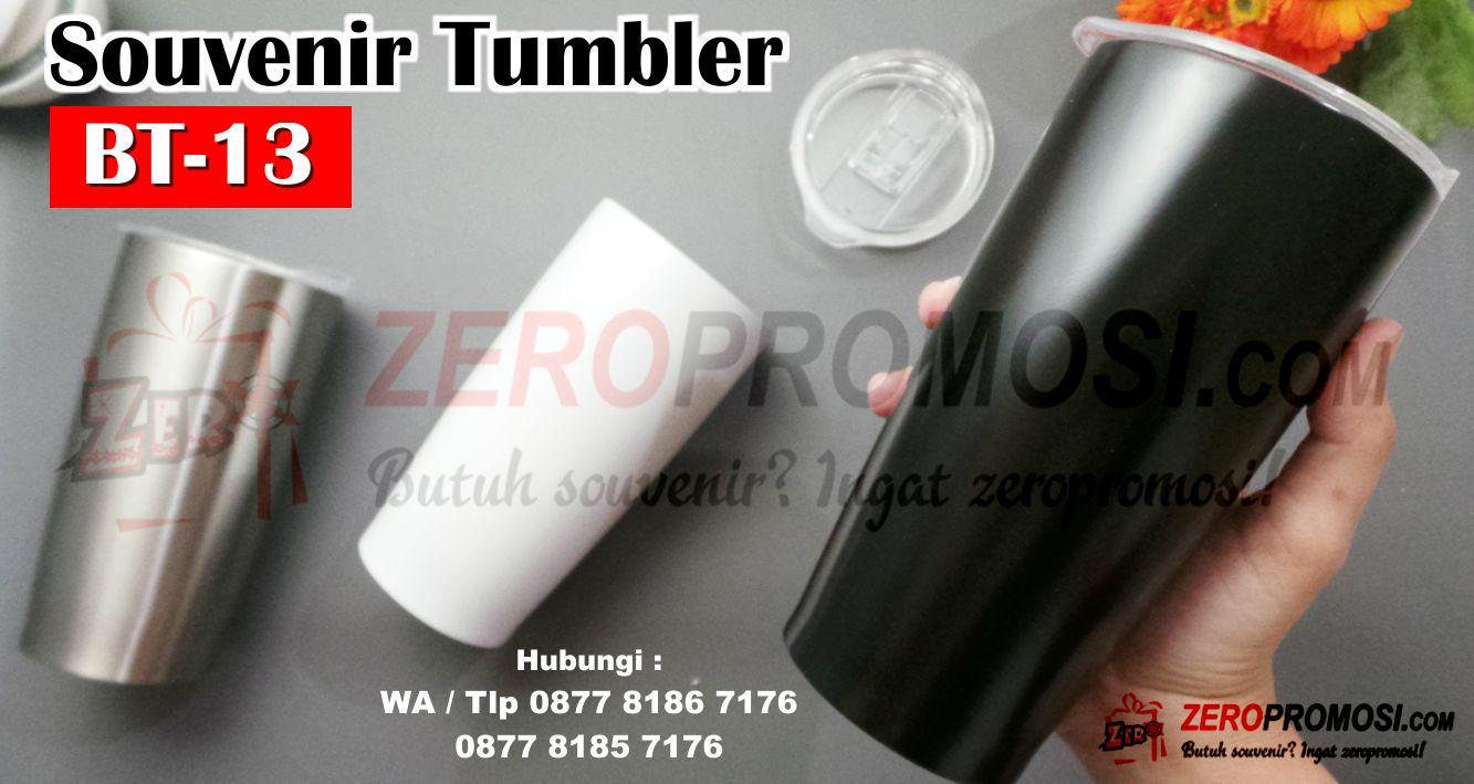 Souvenir Gelas Stainless Tumbler BT-13 Custom Cetak Logo,