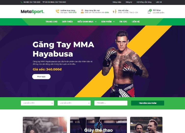 Template blogspot bán phụ kiện thể thao