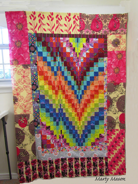 Bargello quilt with improv borders ~ Marty Mason
