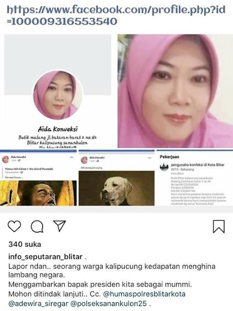 Kepada Polisi, Wanita Penghina Jokowi Mumi Menangis Minta Tak Ditahan, Ngaku Akun Facebooknya Hilang