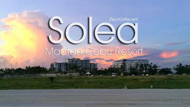 Solea Mactan Cebu Resort and Best Western Sandbar Resort, view in sunset