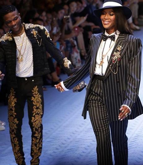 Wizkid Models For Dolce & Gabbana