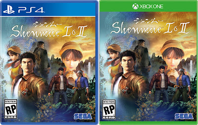 Shenmue I & II covers for PS4 and XBox One