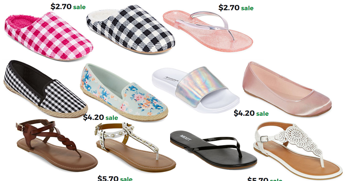 231ee671d2f67 JCPenney 70% Off Women s and Girls  Sandals and Slippers Sale  Women s  Slippers  2.70