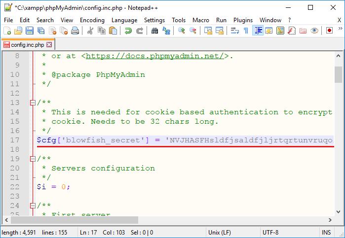 Hướng dẫn cập nhật phpMyAdmin phiên bản mới 4.7.6 trên XAMPP 5