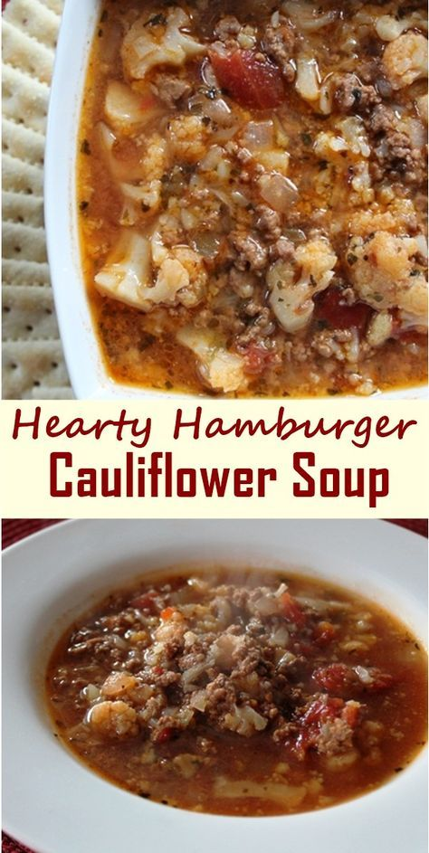 Hamburger Cauliflower Soup