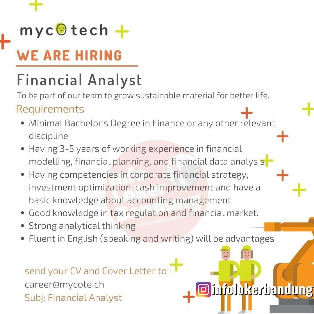 Lowongan Kerja Financial Analyst & General Cashier Mycotech Bandung Februari 2020