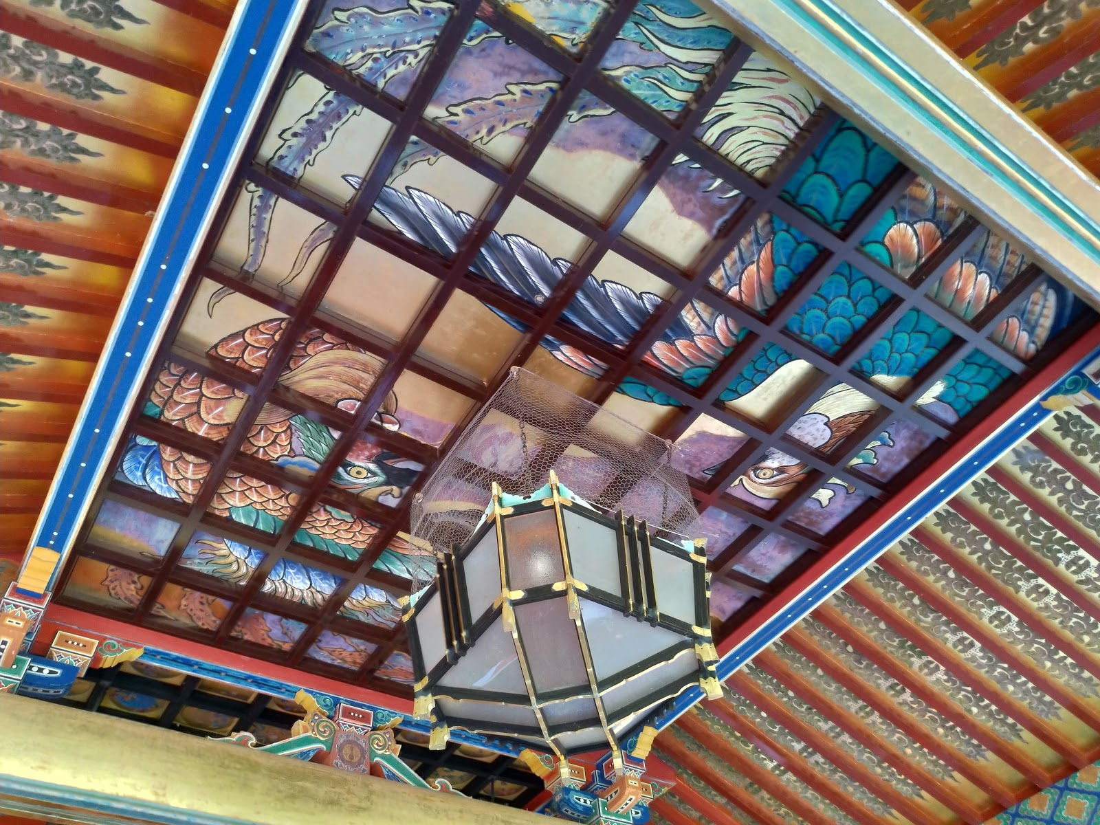 佐賀・祐徳稲荷神社の天井