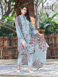 Ishaal Print Gulmohar Vol 13 Pure Lawn Collection in Wholesale Rate