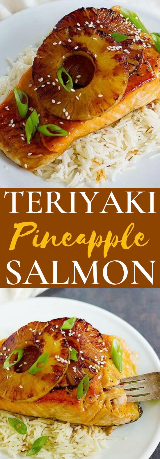 Teriyaki Pineapple Salmon #dinner #seafood