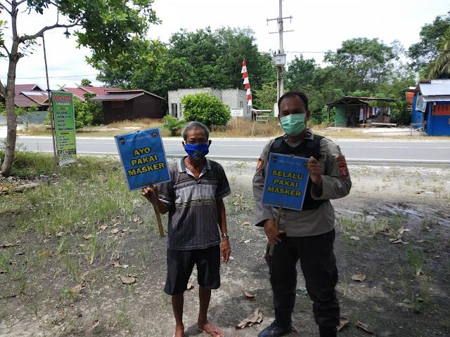 Ajak Masyarakat Gunakan Masker Dan Taati Protokol Kesehatan, Ini yang Dilakukan Polsek Banama Tingang