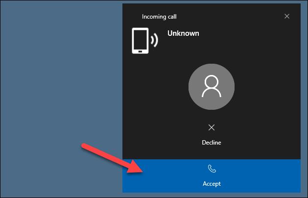 الرد أو الرفض من جهاز الكمبيوتر
