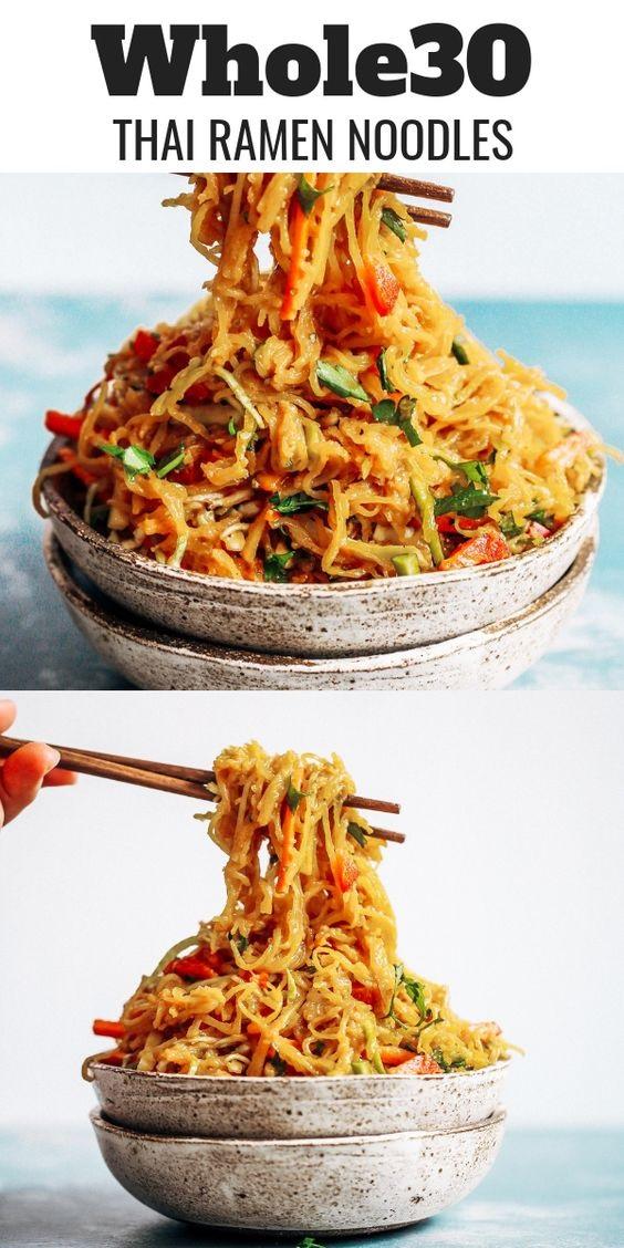 Best Asian Garlic Paleo Whole30 Noodles