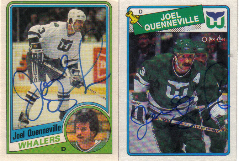 b0a02d541 Hell s Valuable Collectibles  Joel Quenneville  4 Autographed Cards