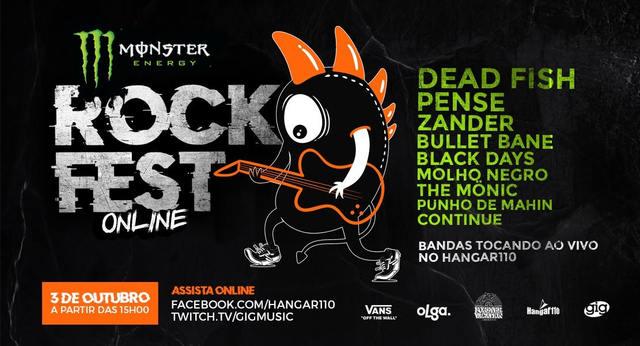 Festival Monster RockFest Online terá transmissão ao vivo pelo facebook do Hangar110