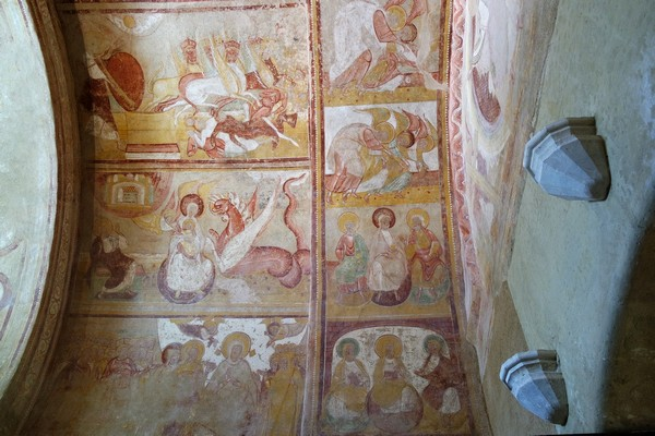 vienne france saint-savin abbaye fresques