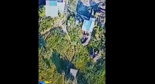 Загадочная «Третья сила» уничтожила с неба блиндаж российских оккупантов на Донбассе