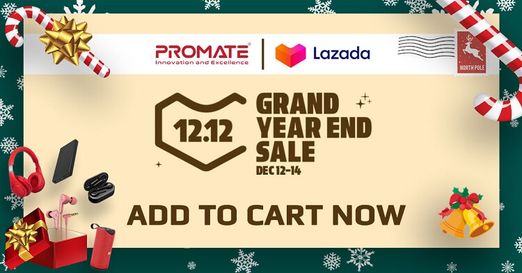 Promate Announces up to 80% Discount at Lazada 12.12