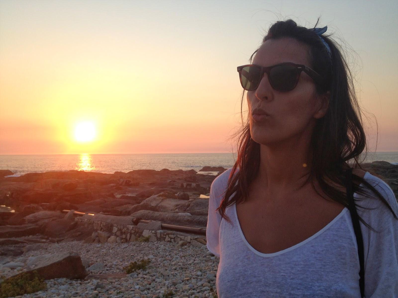 Puesta de Sol en Vila Praia de Ancora en Portugal