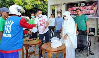 Andi Rusmiati Rustham Wakili DPW HIMAS Sul-Sel Salurkan  Paket Sembako di Dua Kecamatan