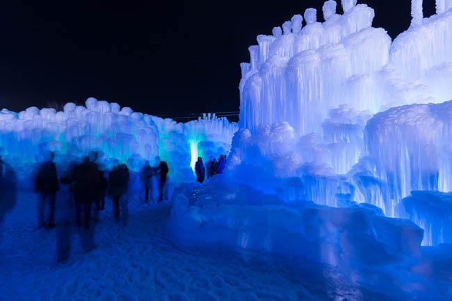 Midway Ice castles | Utah | winter activities in Utah