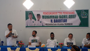 Lagi - lagi No Urut 3, Fadhil-Bakhtiar Kukuhkan Tim Kecamatan Muaratembesi