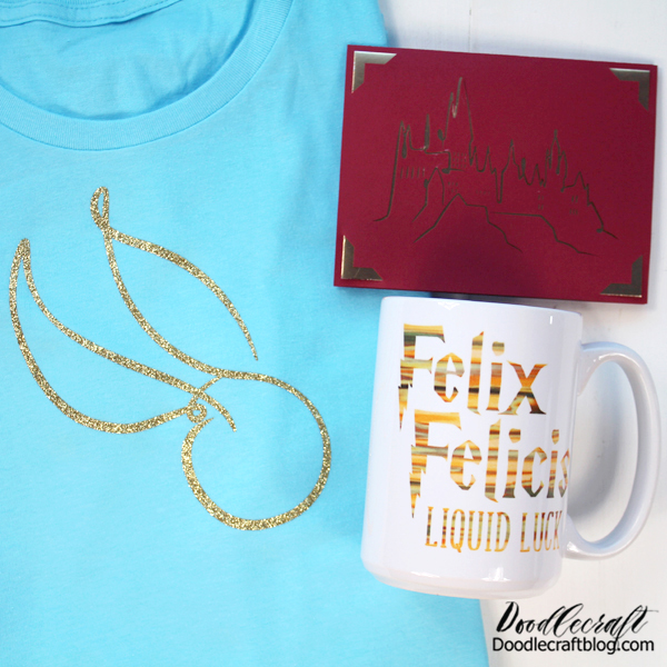 The mug all on it's own is a great handmade gift! But let's really go over the top--next up, a Golden Snitch Shirt!