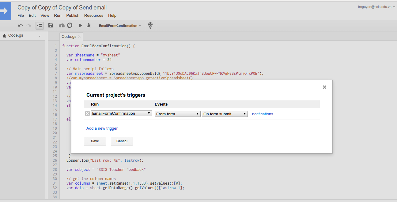 Google Apps Script Part 1 Send Email Result To Selected Address