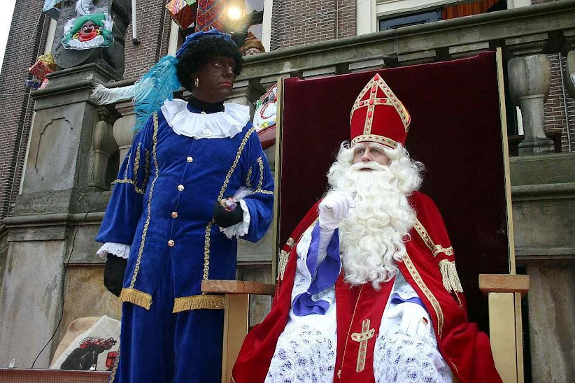São Nicolau e o 'Padre Látego' em Mulhouse, Alsácia