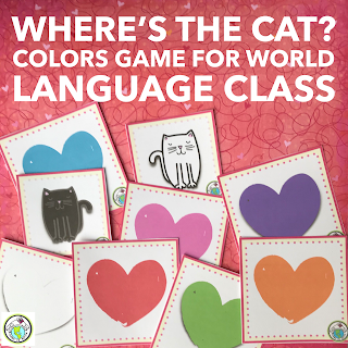 Where's the Cat game Colors for Preschool Spanish French Russian German