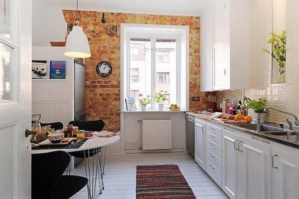 id es de conception des murs de cuisine en briques d cor. Black Bedroom Furniture Sets. Home Design Ideas