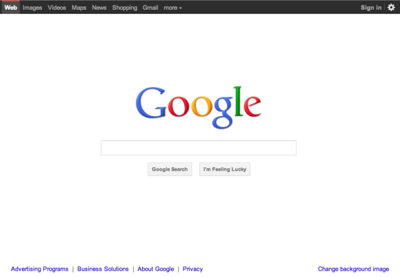 Google 39 s new interfaces - Google home page design ...