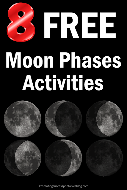 free phases of the moon activities 4th 5th grade