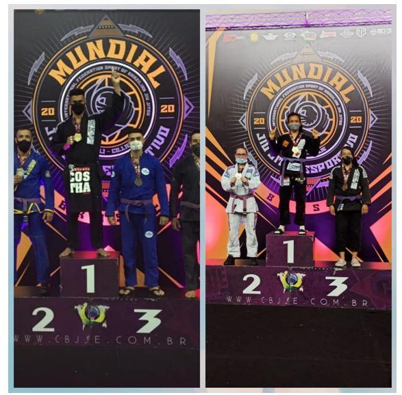 KAORI E JEFERSON conquistam medalhas para Registro-SP no Mundial de Jiu Jitsu Esportivo