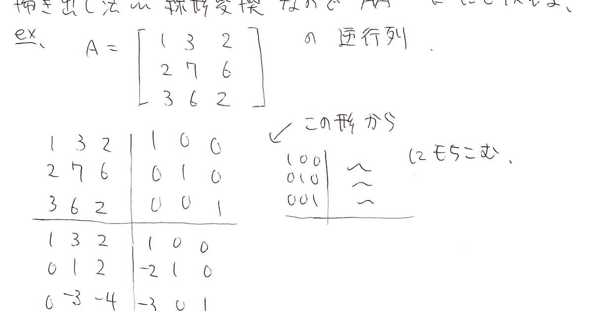 計算機 掃き出し 法 逆行列の計算