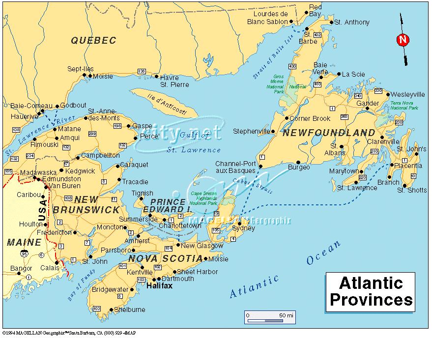 Halifax Karte