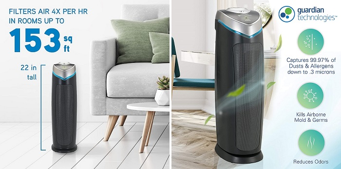 Germ Guardian AC4825E - Best 4-in-1 Air Purifier for Home