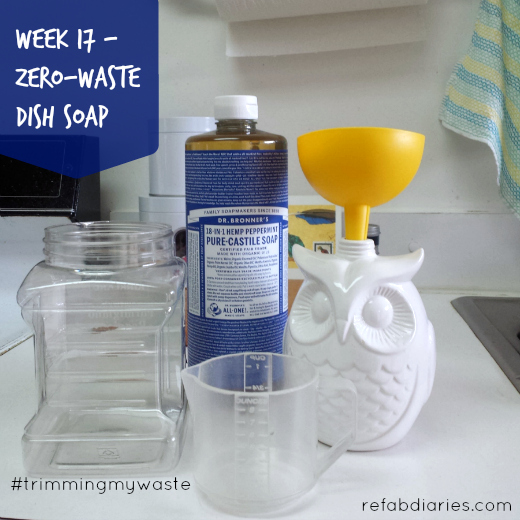 Trimming my waste: Week 17 (DIY dish soap)